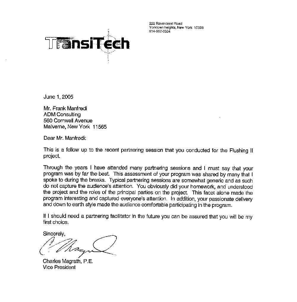 Letter From TransiTech